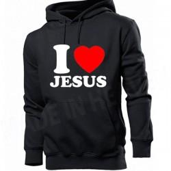 .BD118. I LOVE JESUS - CZARNA