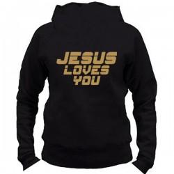 BD108. JESUS LOVES YOU - ZŁOTA APLIKACJA DAMSKA
