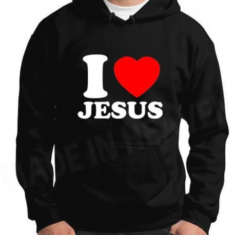 .B118. I LOVE JESUS - CZARNA