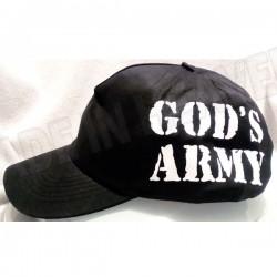 C0. CZAPKA GOD'S ARMY - CZARNA