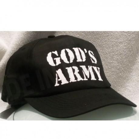 C0A. CZAPKA GOD'S ARMY - CZARNA