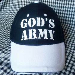 C16. CZAPKA GOD'S ARMY GRANATOWA